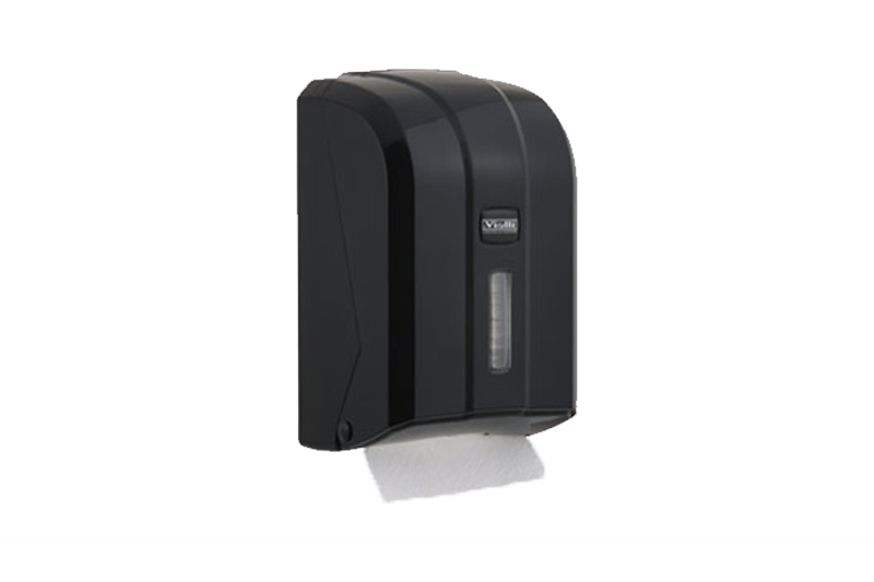 Dispenzer za složivi toalet papir crne boje proizvođač Vialli