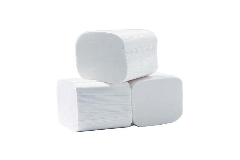 Složivi toalet papir 100% celuloza Papirni program